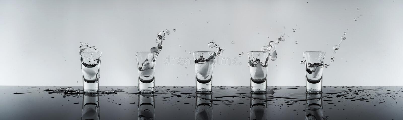 Shot of alcohol stock photo