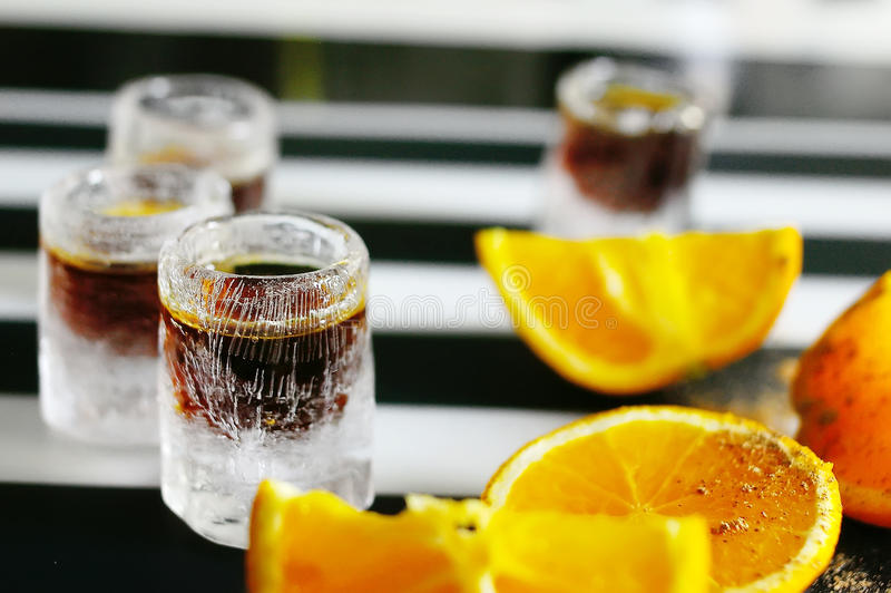 Shot alcoholic cocktail royalty free stock photography