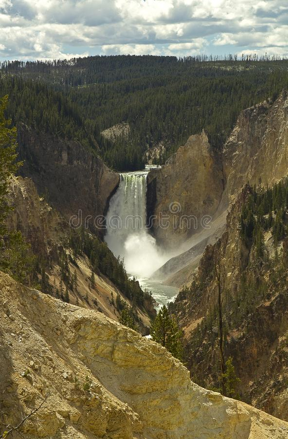Artists point Yellowstone Grand Canyon royalty free stock image