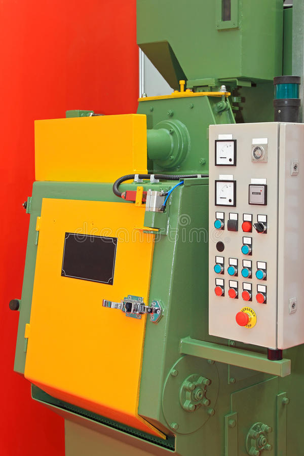 Shot blaster. Automated sand shot blaster industrial equipment machine stock photos