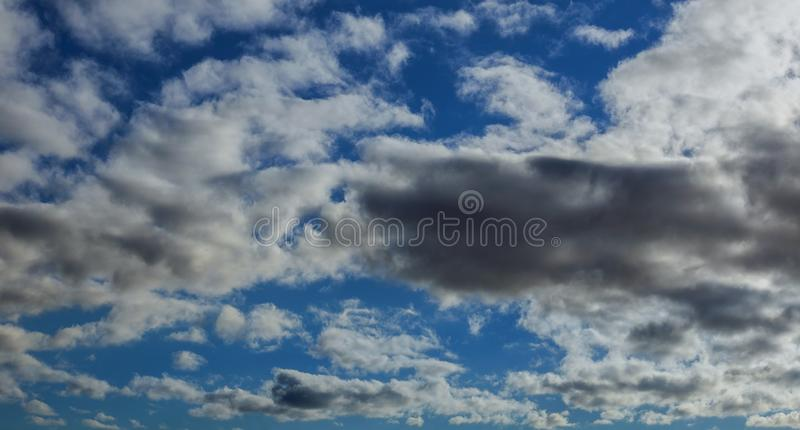 Shot of blue sky with cloud closeup royalty free stock images