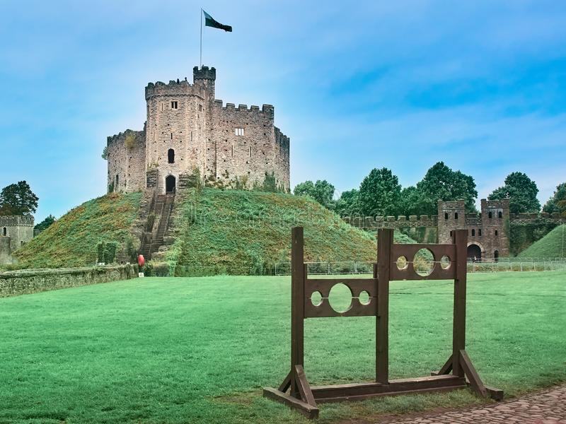 Shot of the Castle of Cardiff stock photography