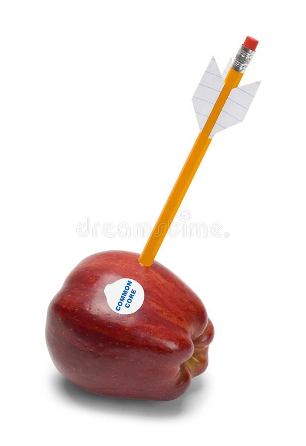 Shot Common Core Apple stock image