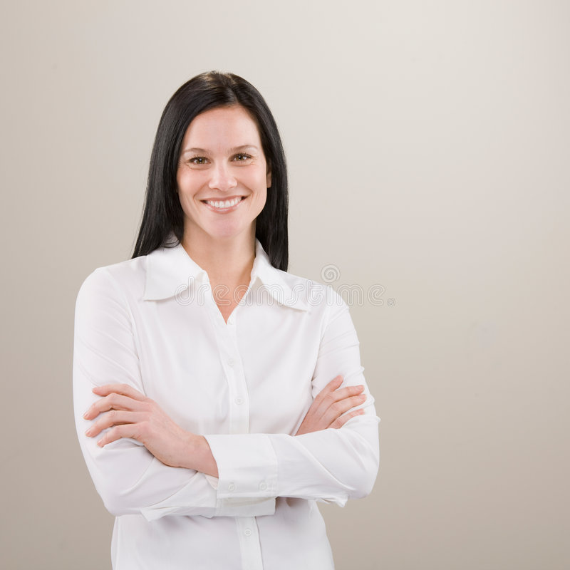Download Shot Of Confident Woman Standing With Arms Crossed Stock Photos - Image: 6568423