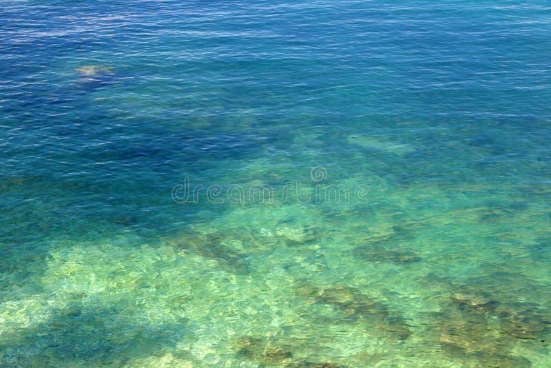 Deep Blue Mediterranean Sea in Craotia - Istria. Shot of deep Blue Mediterranean Sea in Craotia - Istria royalty free stock image