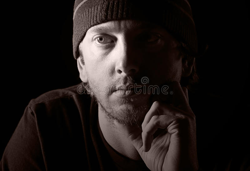Download Shot of a Depressed Male stock photo. Image of portrait - 9905106