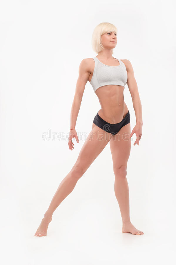 Shot of female athletic forms stock images