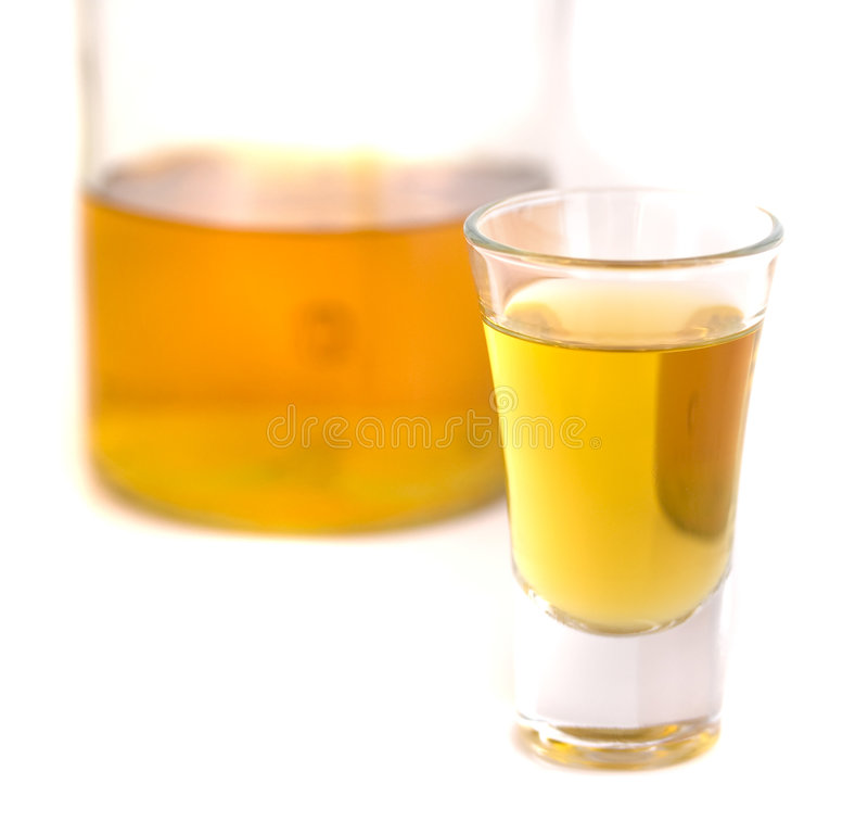 Shot glass royalty free stock photography
