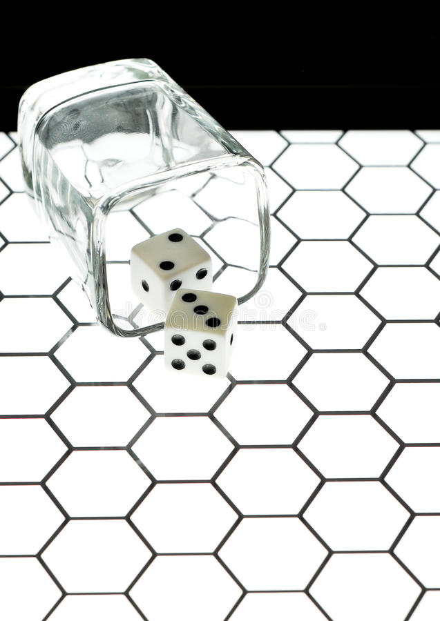 Shot Glass And Dice Stock Photo