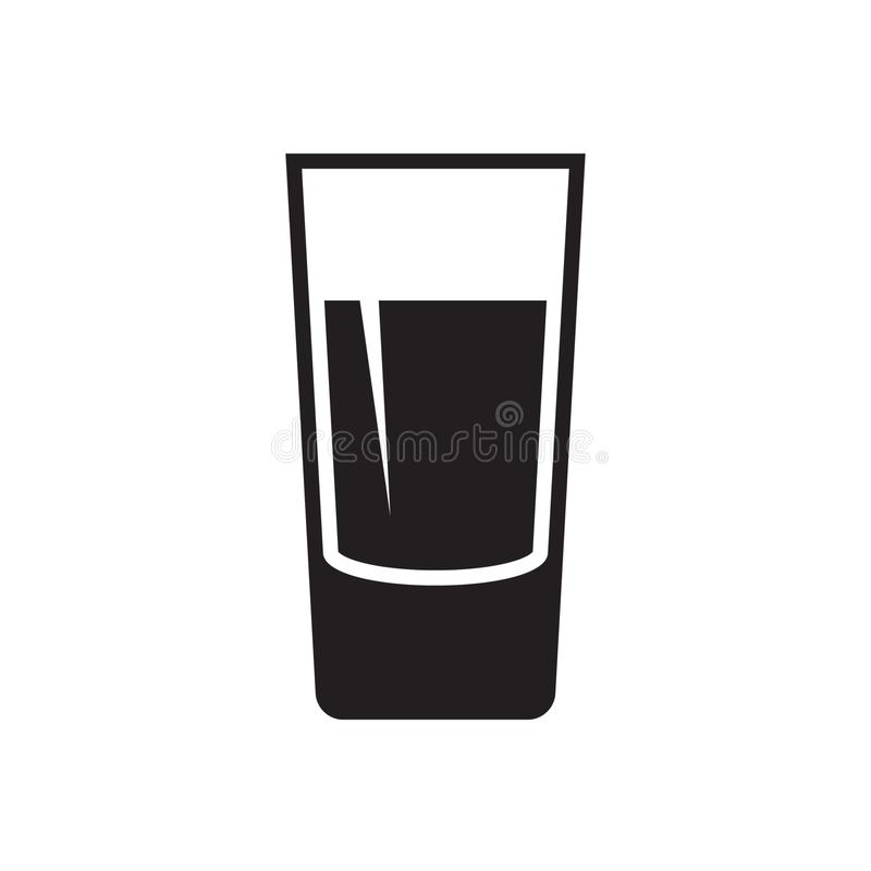 Shot glass icon isolated on white background. Shot glass icon. Vector illustration isolated on white background stock illustration