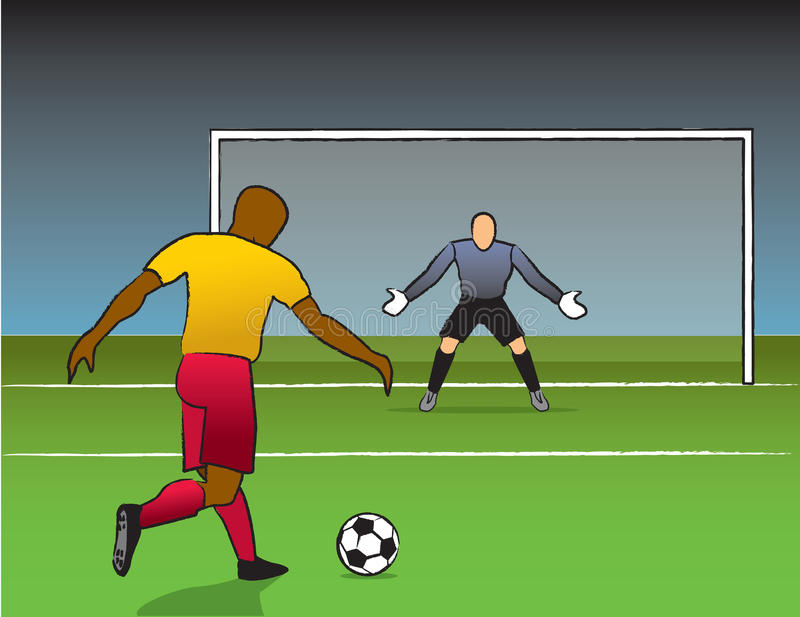 Shot On Goal vector illustration