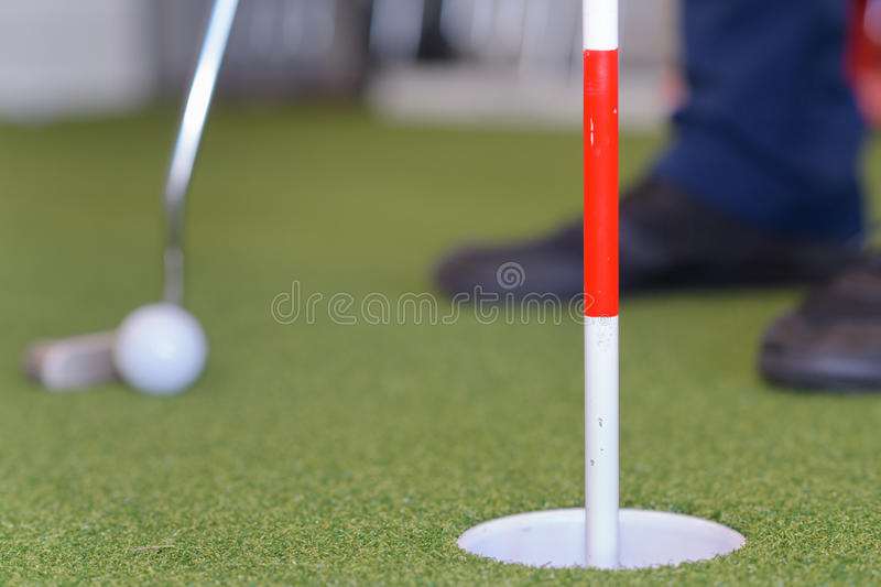 Shot golf ball with golf club royalty free stock images