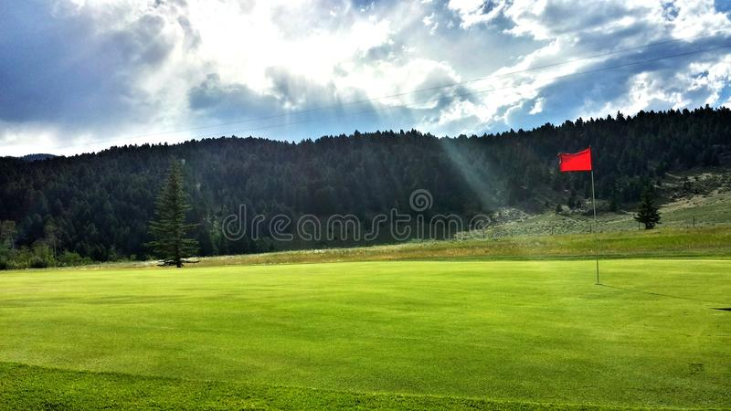 Hole in one royalty free stock photo