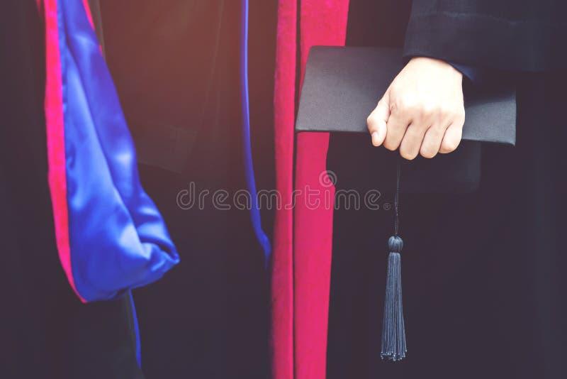 Shot of graduation hats during commencement success graduates of the university,. Concept education congratulation Student young ,Congratulated the graduates in stock image