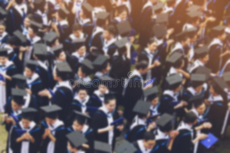Shot of graduation hats during commencement success graduates of the university,. Concept education congratulation Student young ,Congratulated the graduates in royalty free stock photography