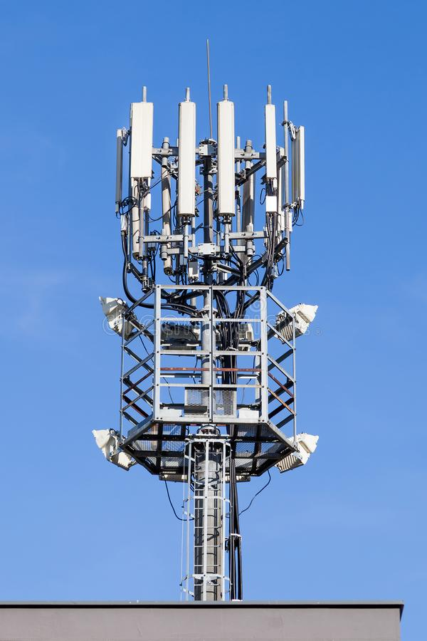GSM tower repeater - 4g, LTE. Shot of GSM tower repeater - 4g, LTE stock photo