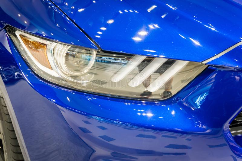Download Shot Of A Modern Car Headlight Stock Image - Image of headlight, automobile: 93661445
