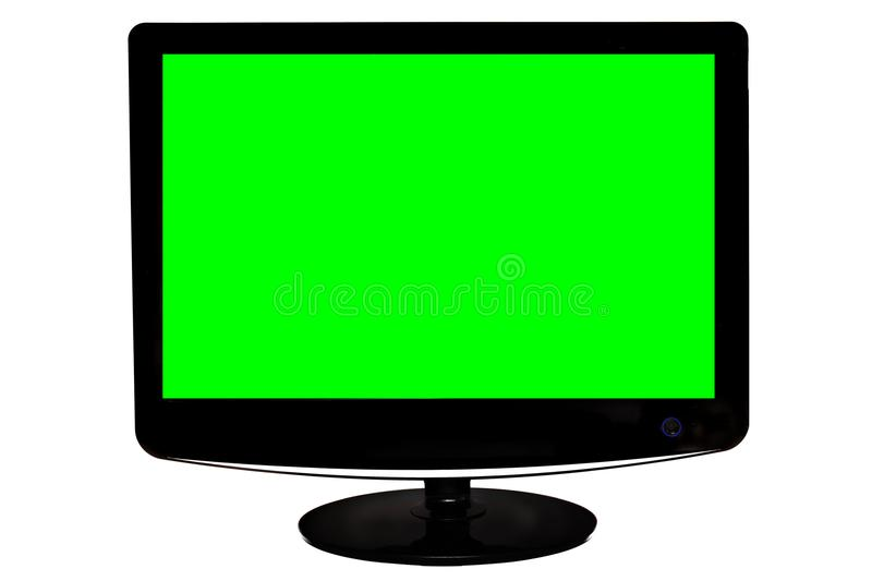 Monitor with green screen. Shot of monitor with green screen royalty free stock images