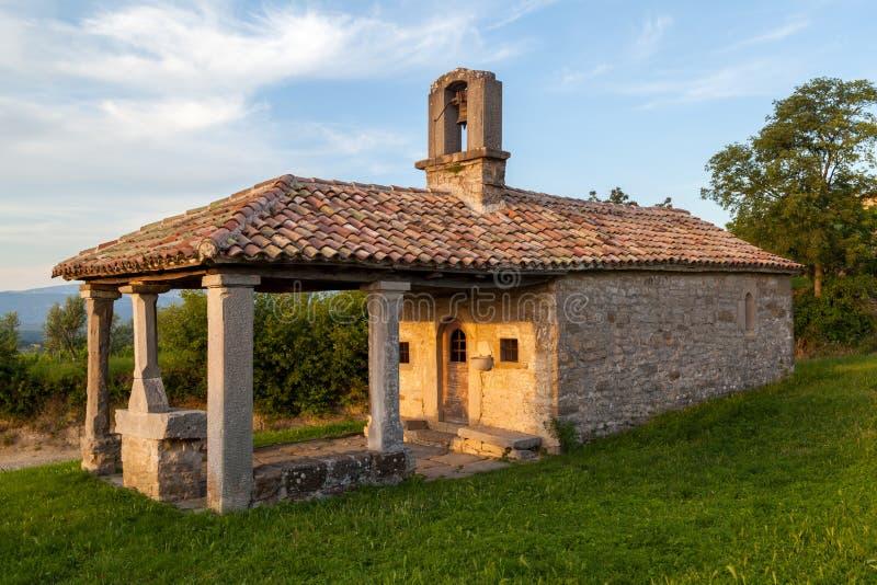 Old Church in town Draguc - Istria, Croatia. Shot of Old Church in town Draguc - Istria, Croatia stock photo