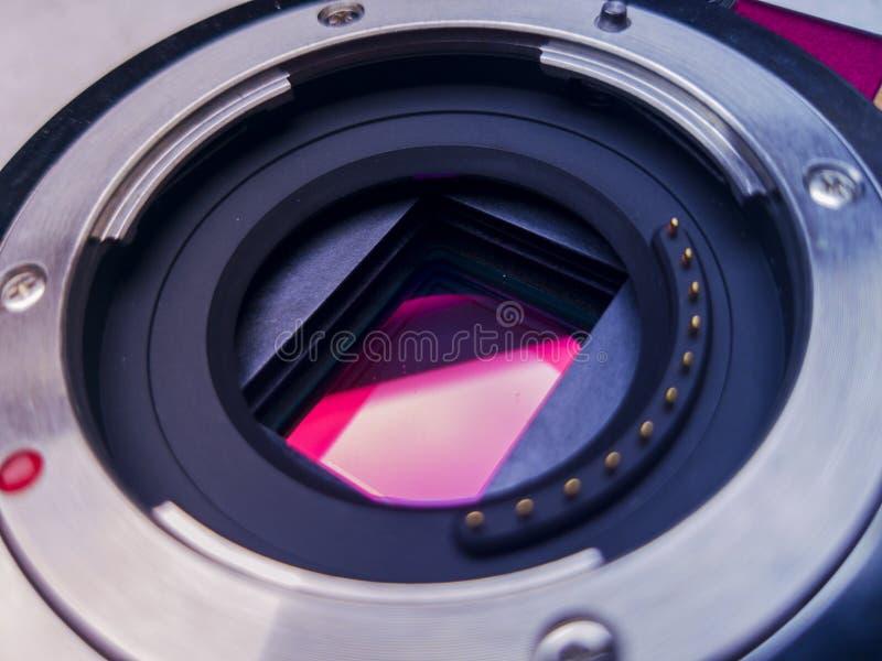 A shot of the Panasonic lumix gf3 sensor. This is the Panasonic lumix gf3 sensor. a micro four thirds sensor picture stock photos