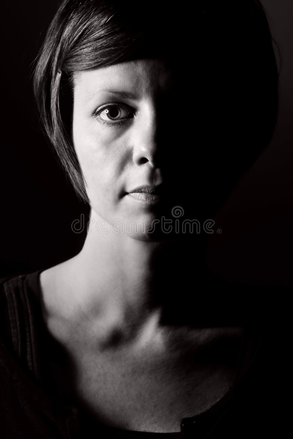 Shot of a Pensive Female royalty free stock images