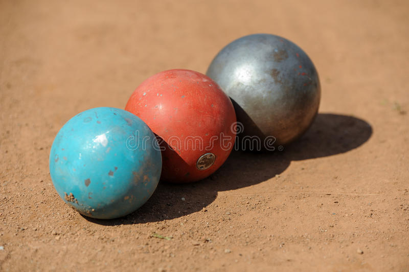 Shot put. On athletic field stock image
