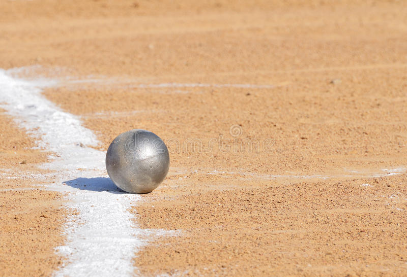 Download Shot Put By Chalk Line Royalty Free Stock Image - Image: 14096456