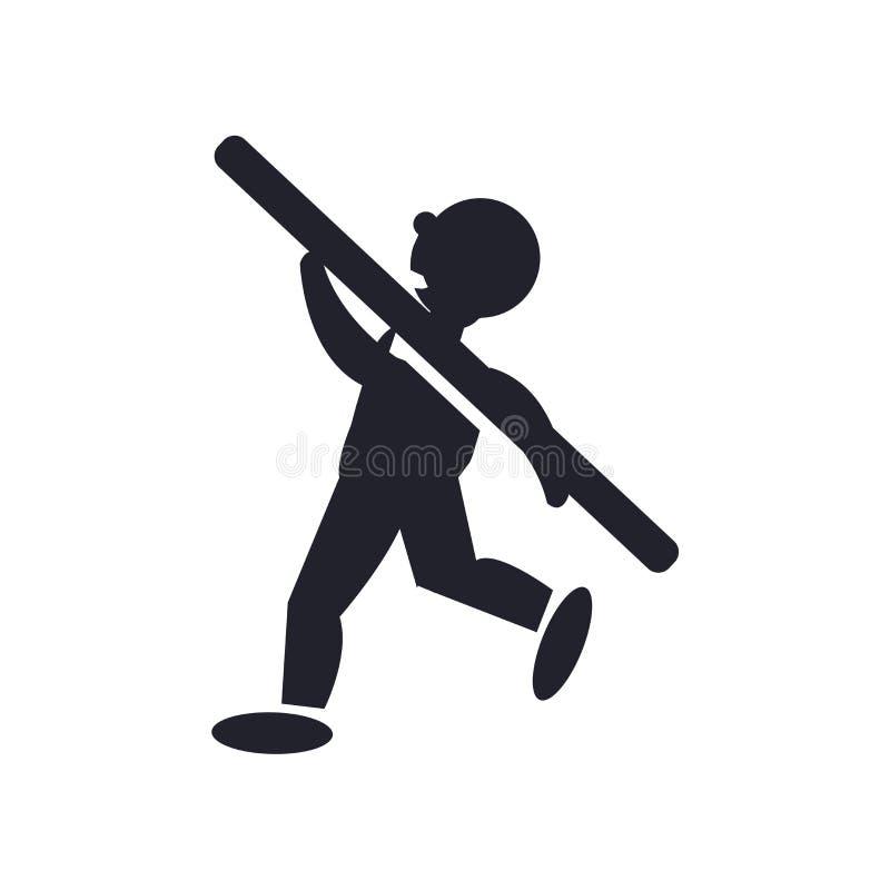 Shot Put icon vector sign and symbol isolated on white background, Shot Put logo concept stock illustration