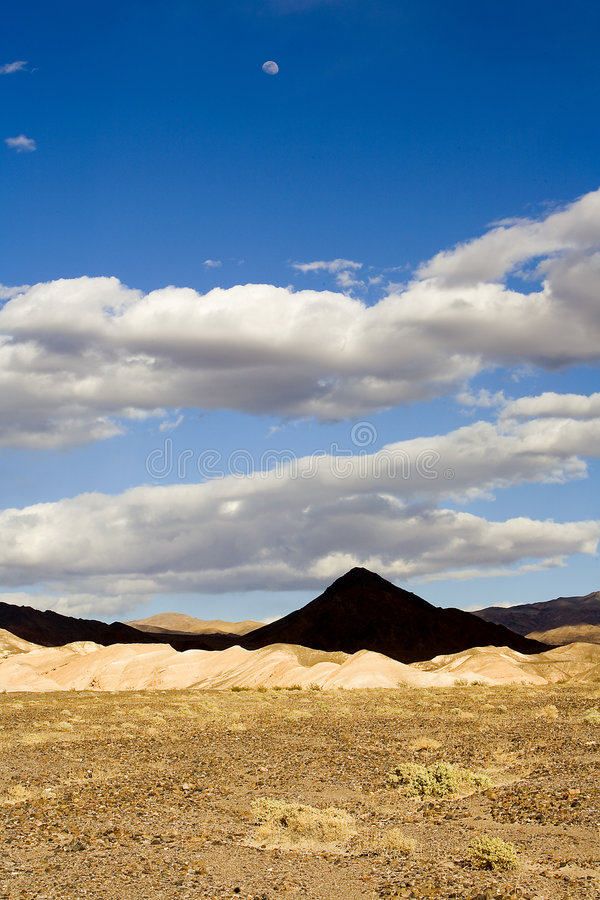 Shot of a Pyramid shaped mountain in Death Valley stock photography