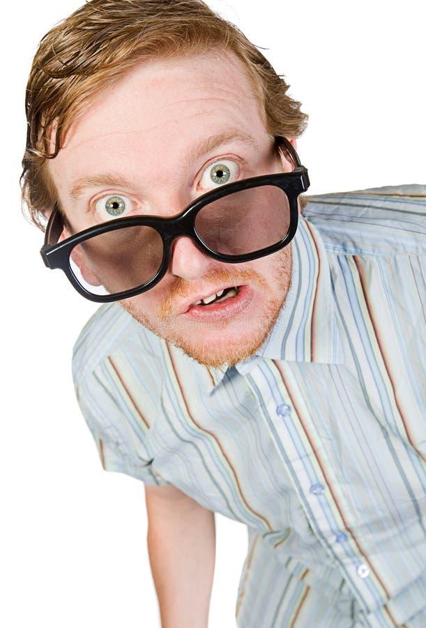 Download Shot of a Red Headed Geek stock photo. Image of male, joke - 9905128
