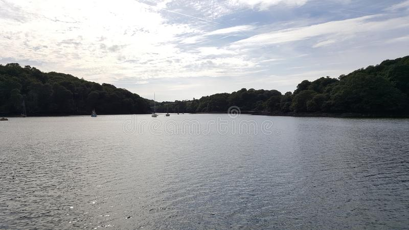 An afternoon on the Fal stock photography