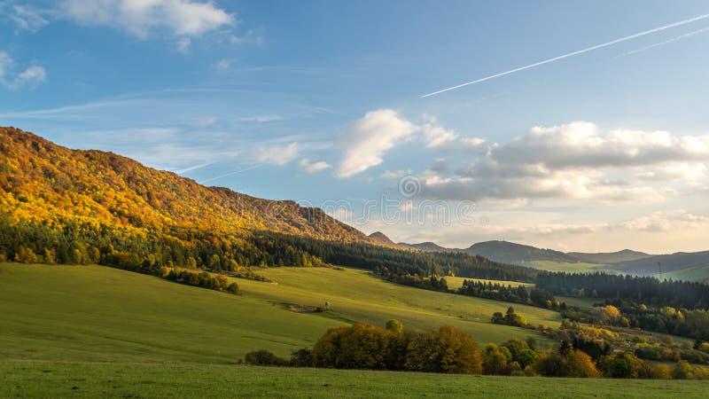 Autumn nature panorama of the Sulov rocks and nature, Slovakia stock photo