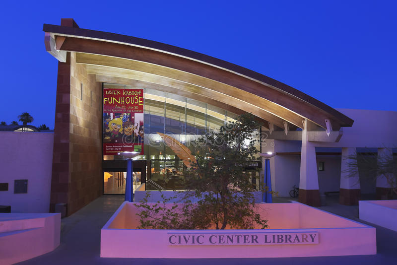 A Shot of the Scottsdale Civic Center Library. SCOTTSDALE, ARIZONA - JUNE 10: The Scottsdale Civic Center Library on June 10, 2013, in Scottsdale, Arizona. An stock photo