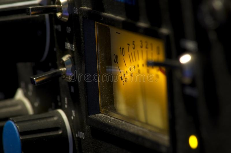 Shot session to audio devices. Close up shot session to audio devices royalty free stock photo