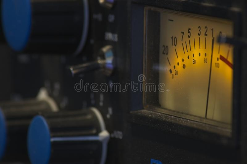 Shot session to audio devices. Close up shot session to audio devices royalty free stock photography