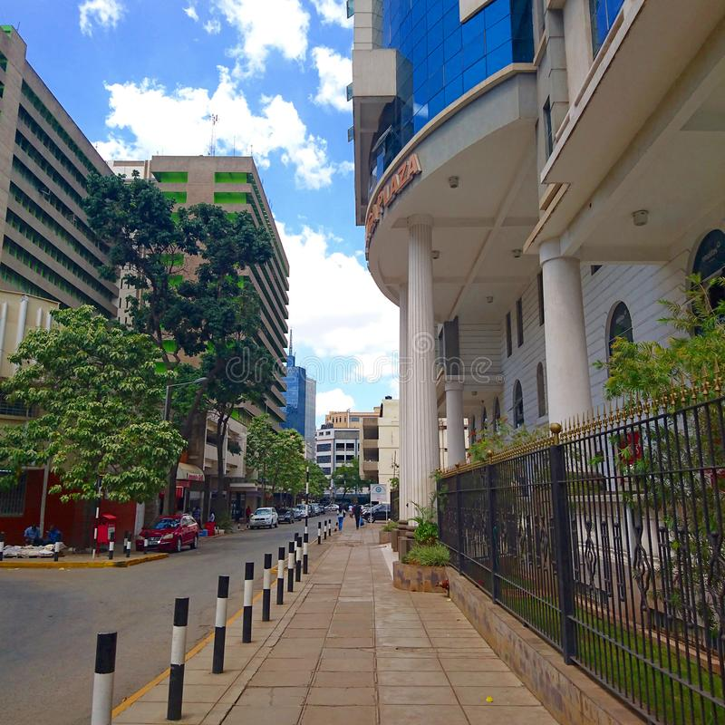 Central business district of Nairobi. Shot taken of the Central business district of Nairobi which is the city center stock photography