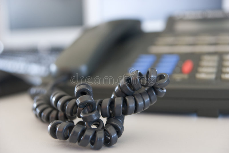 Download Shot of a telephone cord stock photo. Image of crossed - 5708600