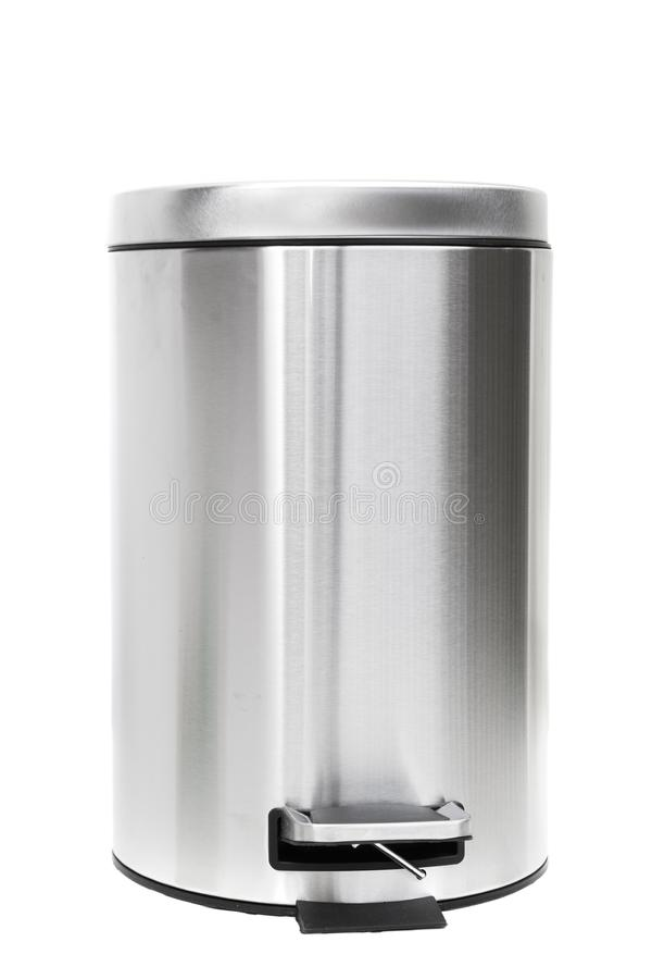 Trash can. Shot of Trash can on white stock photos