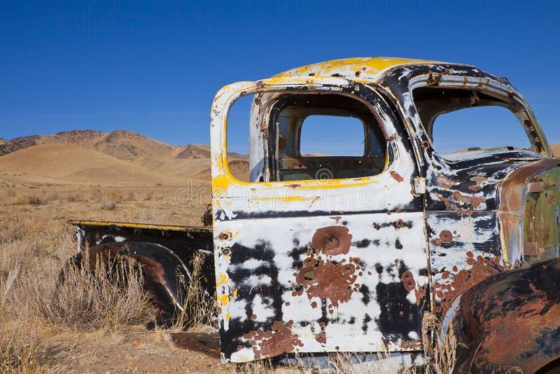 Shot Up Truck royalty free stock photos