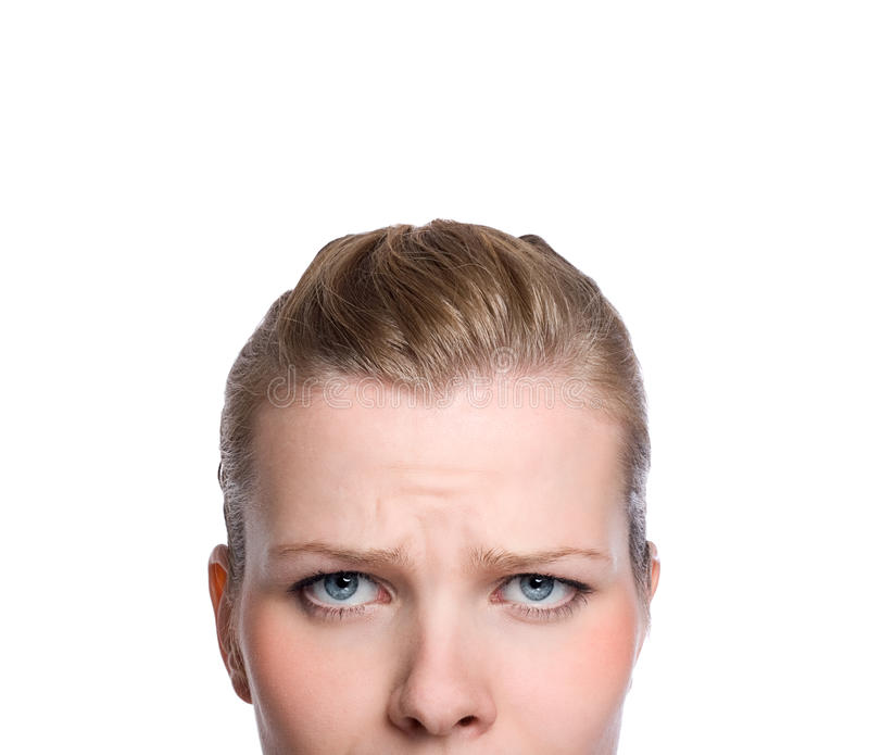 Download Shot Of The Upper Part Of An Angry Womans Face Stock Photos - Image: 13023813