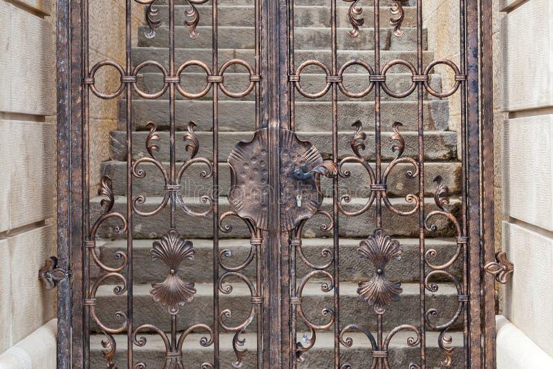 Vintage metal doors. Shot of Vintage metal doors stock image