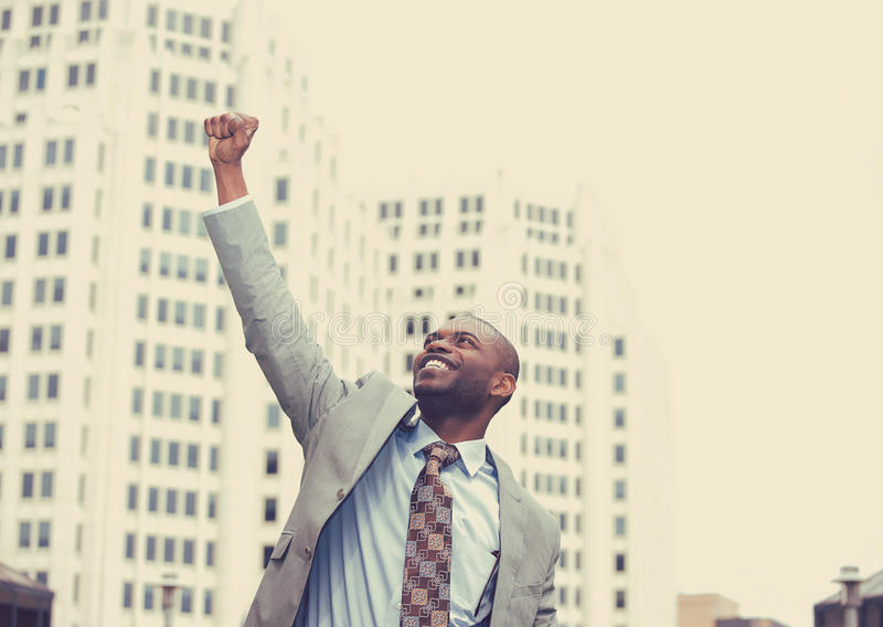 Shot of a young successful businessman outdoors royalty free stock photo