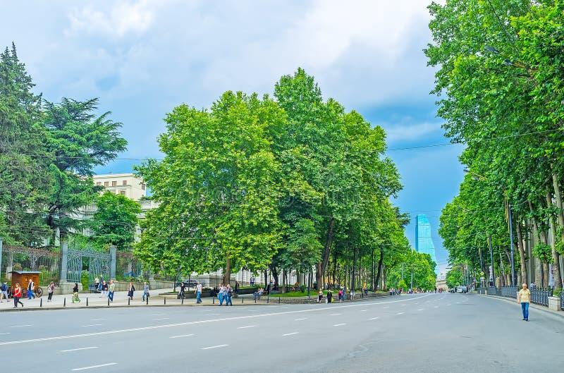 Shota Rustaveli Avenue foto de archivo libre de regalías