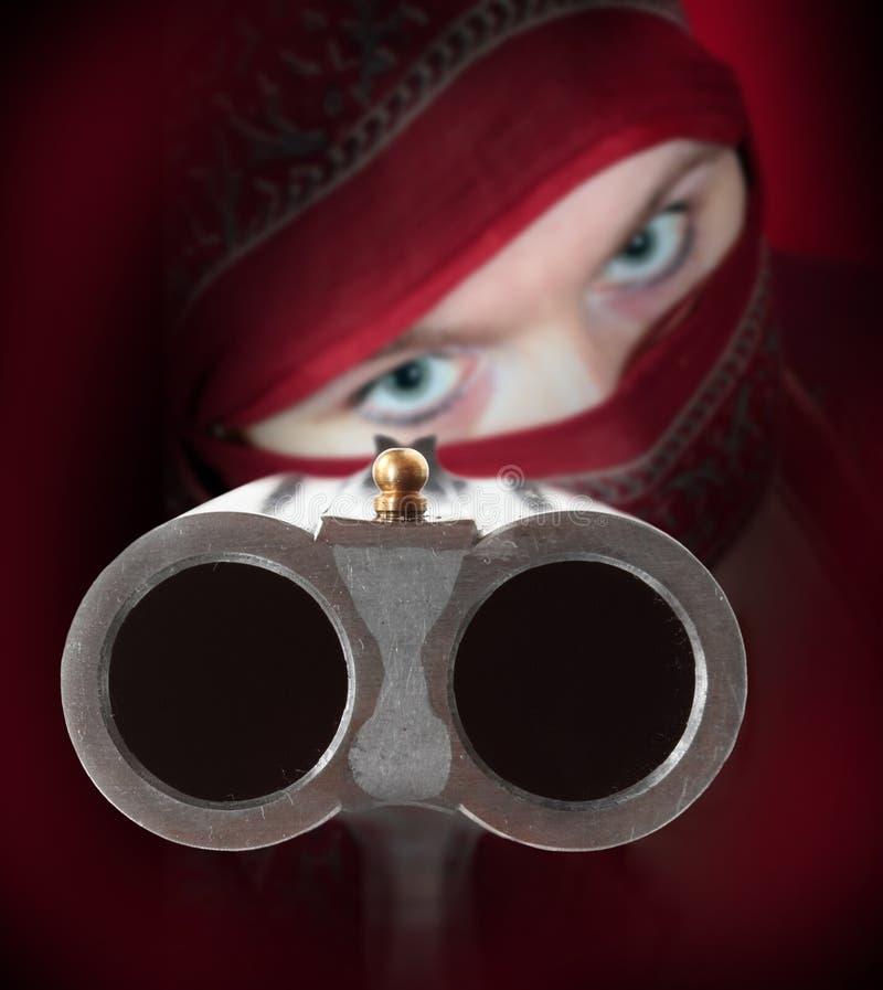 Download The Shotgun aimed at you. stock photo. Image of gang - 28124894