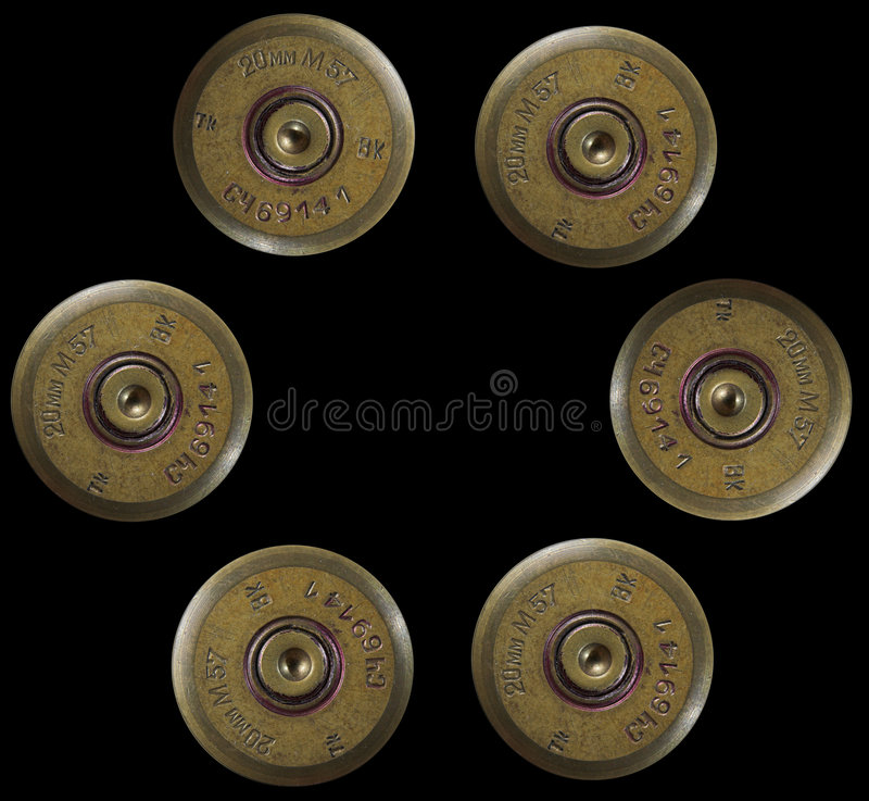 Shotgun bullets - war concept stock image