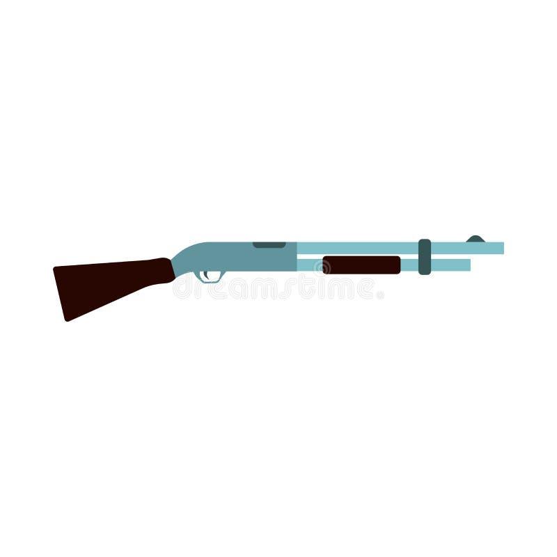 Shotgun illustration rifle vector icon. Hunting gun weapon barrel target. Munition brown simple caliber duck vector illustration