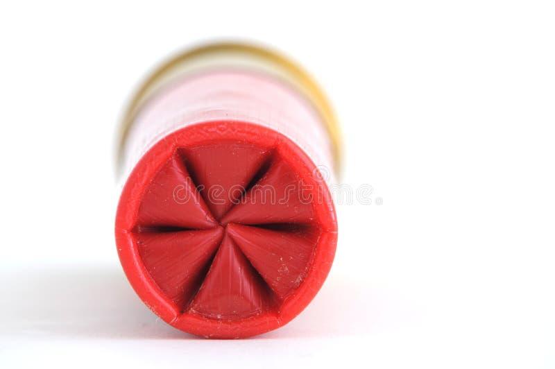 Shotgun shell crimp stock image