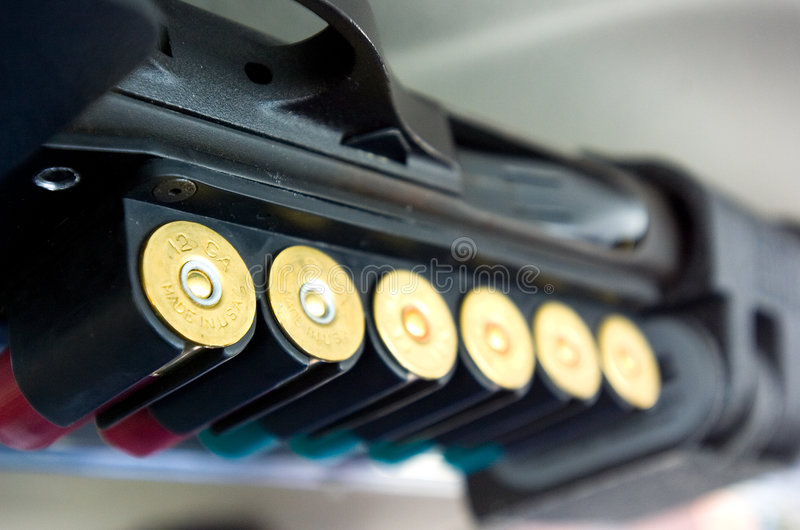 Shotgun shells stock photography