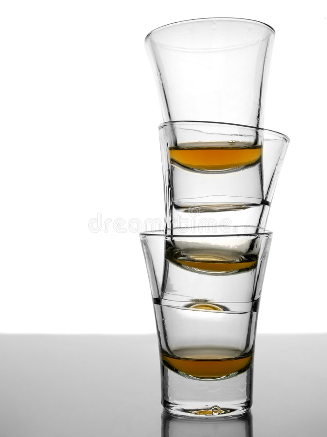 Shots of whisky stock photos