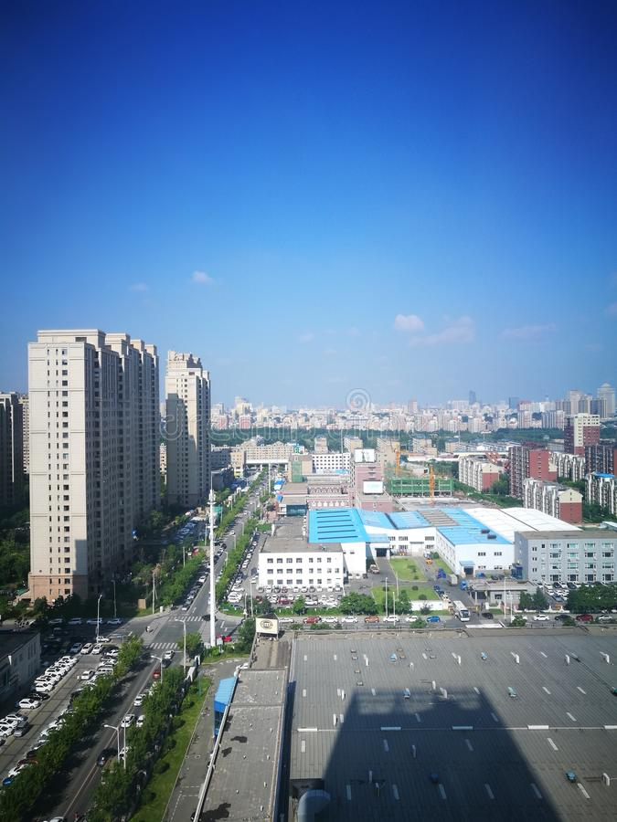 The morning view of Changchun royalty free stock photography